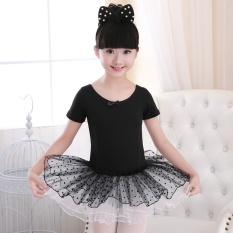 Childrens Dance Dress Girls Ballet Dancers Spring And Summer Korean Yarn Skirt Practice Uniforms Costumes Dress Pompon Skirt Size 130-140cm - Intl By Wonderful U Store.
