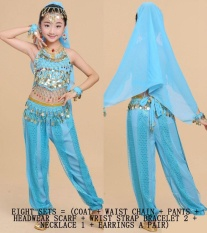 Childrens Indian Dance Costumes Belly Dance Childrens Performance Costumes Girls Belly Dance Clothing Childrens National Dance Clothes By Wonderful U Store.