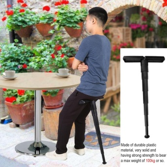 Compact Portable Mini Folding Chair Stand-up Leaning Seat for Outdoor Activities - intl