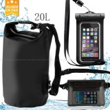 D&D 3in1 Portable & Outdoor 20L Waterproof Dry Bag Set with Water Proof Phone Case and Waist Bag image on snachetto.com