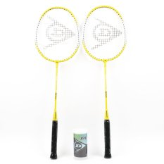 Dunlop Pro Champ 300 G1 HD NF Badminton Racket Set of 2 (Yellow)