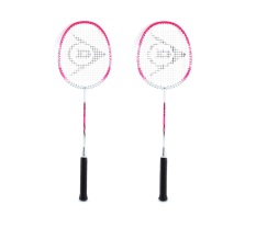 Dunlop Rapid TI V2 Player Badminton Racket Set of 2 (Pink/White)