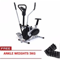 Elliptical Air Bike With Twister (black/grey) Free Ankle Weights By Sonix Music Store.