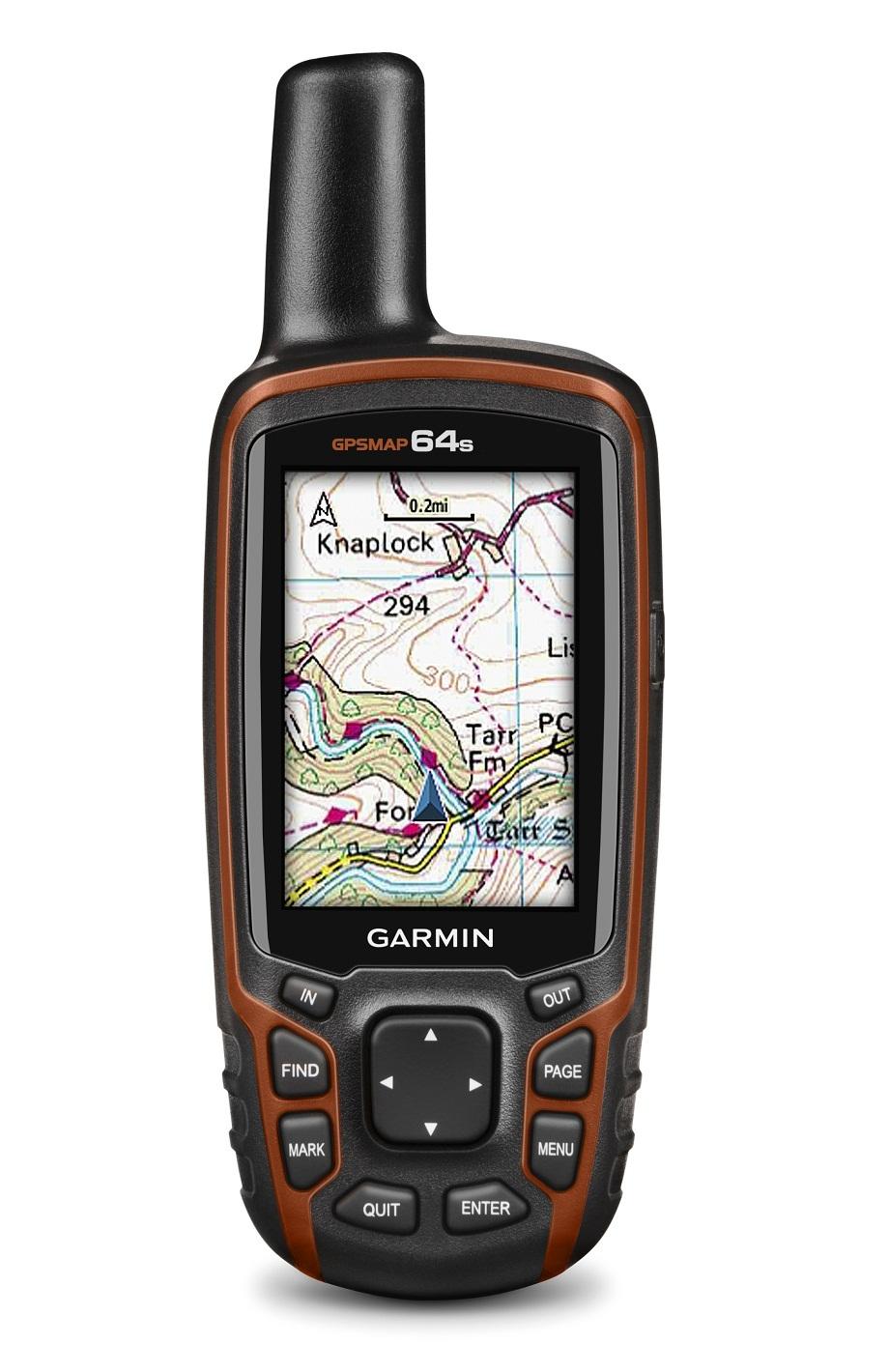 Garmin GPSMAP 64s Handheld GPS Navigator (Black/Orange) - thumbnail
