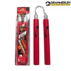 Huijun Sports Professional Chako Nunchakus Soft Grip Rubber Handheld (red) By Gml Inc..