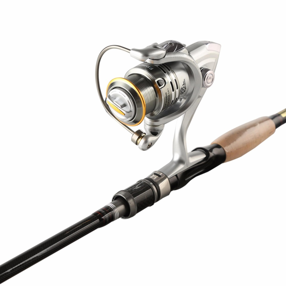JOHNCOO NEW Fishing Rod Combo 2.7m Carbon Rod and Spinning Fishing Reel SP3000 Spinning Fishing