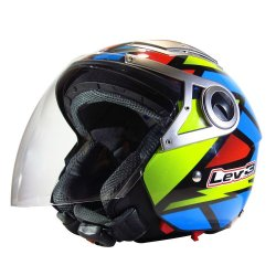 Lev3 Open Face BJ-3100 Frenzy Motorcycle Helmet (PolyColor)
