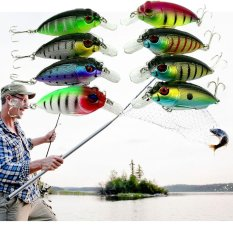 Lot 8Pcs Fishing Lures Kinds of Minnow Fish Bass Tackle Hooks Baits Crankbaits - intlPHP584.