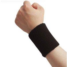 Men & Women Sports Sweatband Tennis Squash Badminton Terry Cloth Wrist Sweat Bands Basketball Gym Wristband