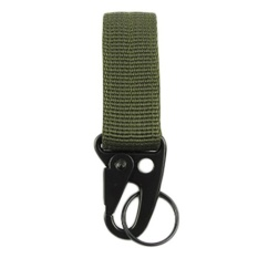Military Nylon Key Hook Webbing Molle Buckle Outdoor Hanging Belt Carabiner Clip(ArmyGreen) -