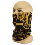 Unisex Men Women Multi Colors Tube Scarf Bandana Head Face Cover Scarf Neck Gaiter Snood Headwear Beanie Multifunctional Balaclava Light yellow One Size