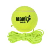 Natural Rubber Synthetic Wool Fiber Tennis Ball Dog Training Tennis Ball With String - intl image