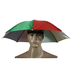 New Foldable Head Umbrella Hat Cap Golf Outdoor Sun Headwear Fishing Camping - Intl By Ailsen.