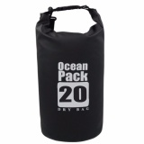 Ocean Pack Portable Barrel-Shaped Waterproof Dry Bag 20L (Black)   image on snachetto.com
