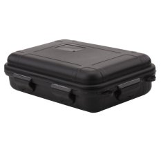 Outdoor Survival Shockproof Waterproof Storage Box Sealed Container Travel  Case(Black L)   Intl
