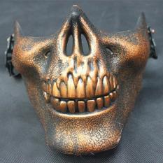 PAlight Plastic Horror Skull Jaw Mask Terror Half Face Shied Human Skeleton  Warrior Ghost Mask for Halloween Party - intl