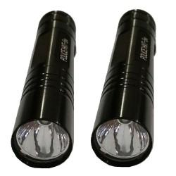 Keimav Police 5W Mini Flashlight Torch Key Chain Set of 2