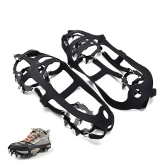 Portable Anti Slip Boot Grips Ice Cleats Spikes Snow Gripper Non Slip Crampons 230*115*3mm - Intl By Blossom Mall.