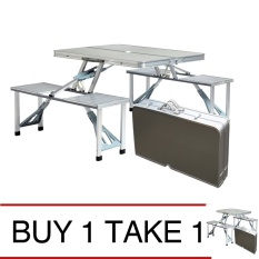 Camping tables for sale hiking tables online brands prices portable folding aluminum picnic table silver buy 1 take 1 watchthetrailerfo
