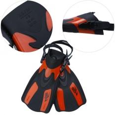 Professional Adjustable Swim Fins Snorkeling Foot Flipper Diving Equipment for Adult (Red L) -