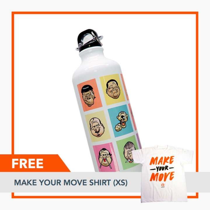 Rappler Xchange Limited Edition Pugad Baboy Tumbler - Characters FREE Make Your Move Shirt (XS)