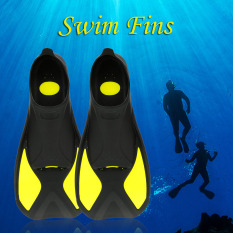 Snorkeling Foot Flipper Diving Fins Swimming Equipment Yellow L - Intl