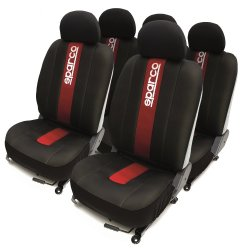 Sparco Seat Cover SPC1013 (Red/Black)