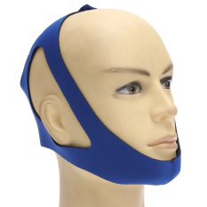 Stop Snoring Chin Aid Strap Jaw Belt Anti Snore Solution Device Apnea Support Blue By Channy.