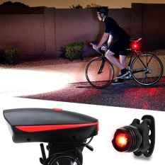 Super Bright USB Led Bike Bicycle Light Rechargeable Headlight &Taillight Set - intl