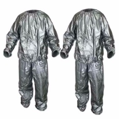 46b0701762b Trendsetter Set of 2 Heavy Duty Sweat Sauna Suit Gym Fitness Exercise Fat  Burn Weight Loss
