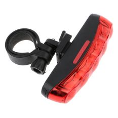Vanker-Durable Waterproof Rear Light Safety Warning Tail Light 5 LED For MTB Bike Bicycle