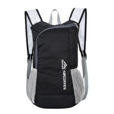 Waterproof Bionic Foldable Backpack Portable Package Unisex Leisure Bag(black) - Intl By Crystalawaking