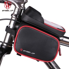WHEEL UP New 6.2 Inch Waterproof Touch Screen Bike Bag Front Frame Top Cell Phone TPU