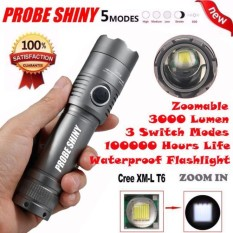 X800 3000Lm XML T6 LED Zoomable 18650 AAA Flashlight Torch Light Lamp - intl