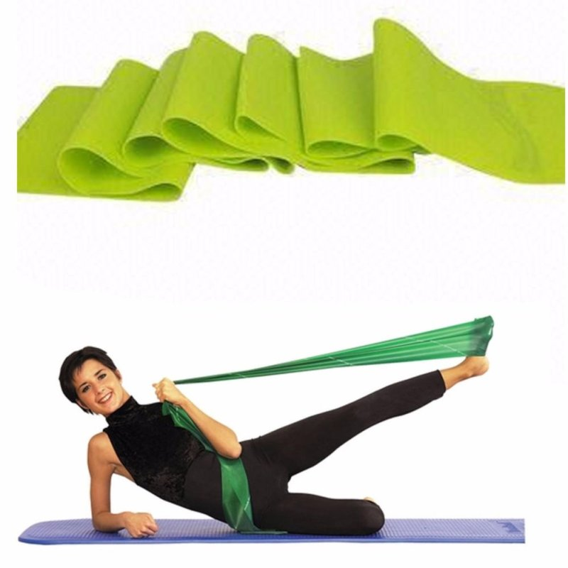 7195c98435 Yoga Rubber Stretch Resistance Exercise Workout Fitness Band (color random)