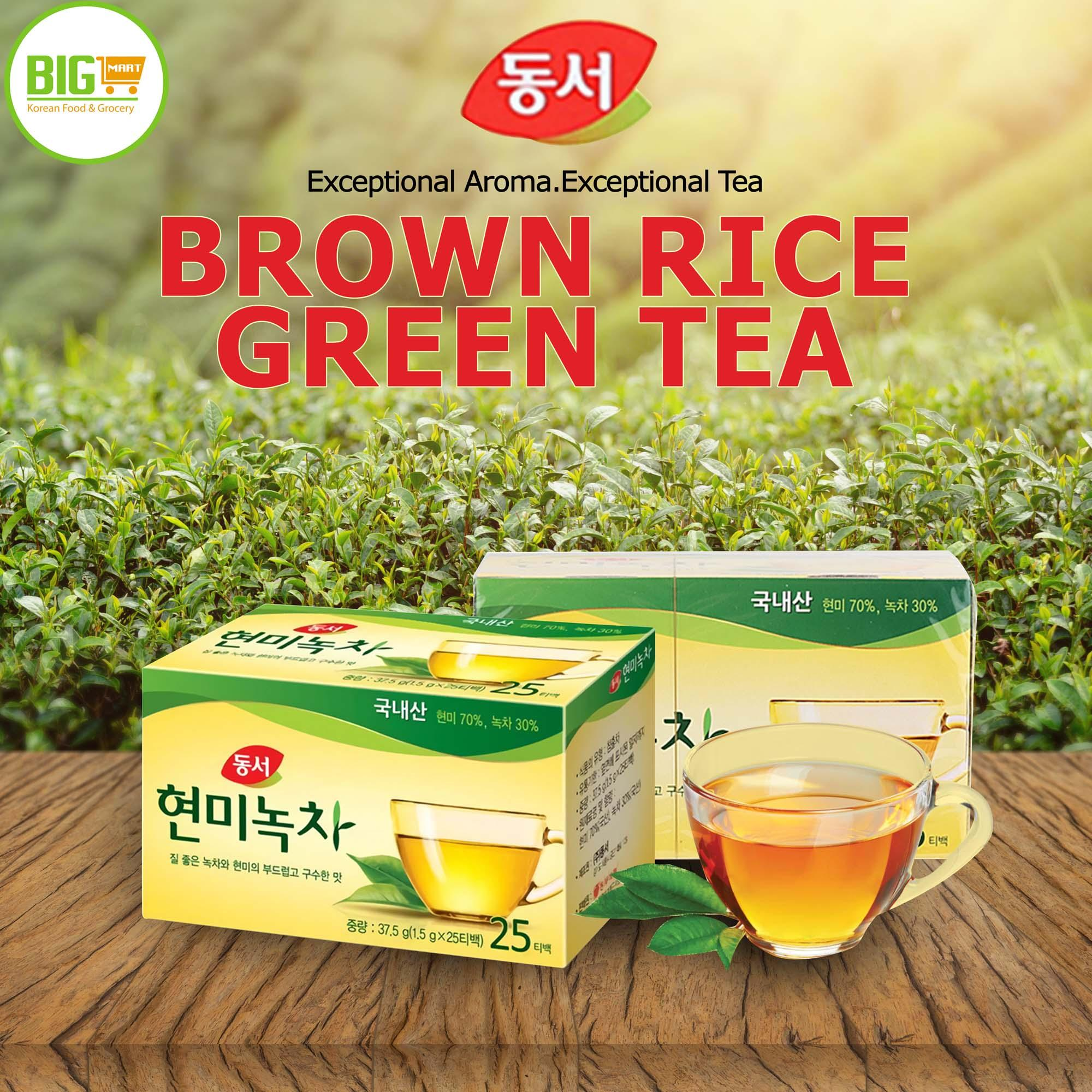 Image result for DONGSUH Korean Brown Rice Green Tea 25T box