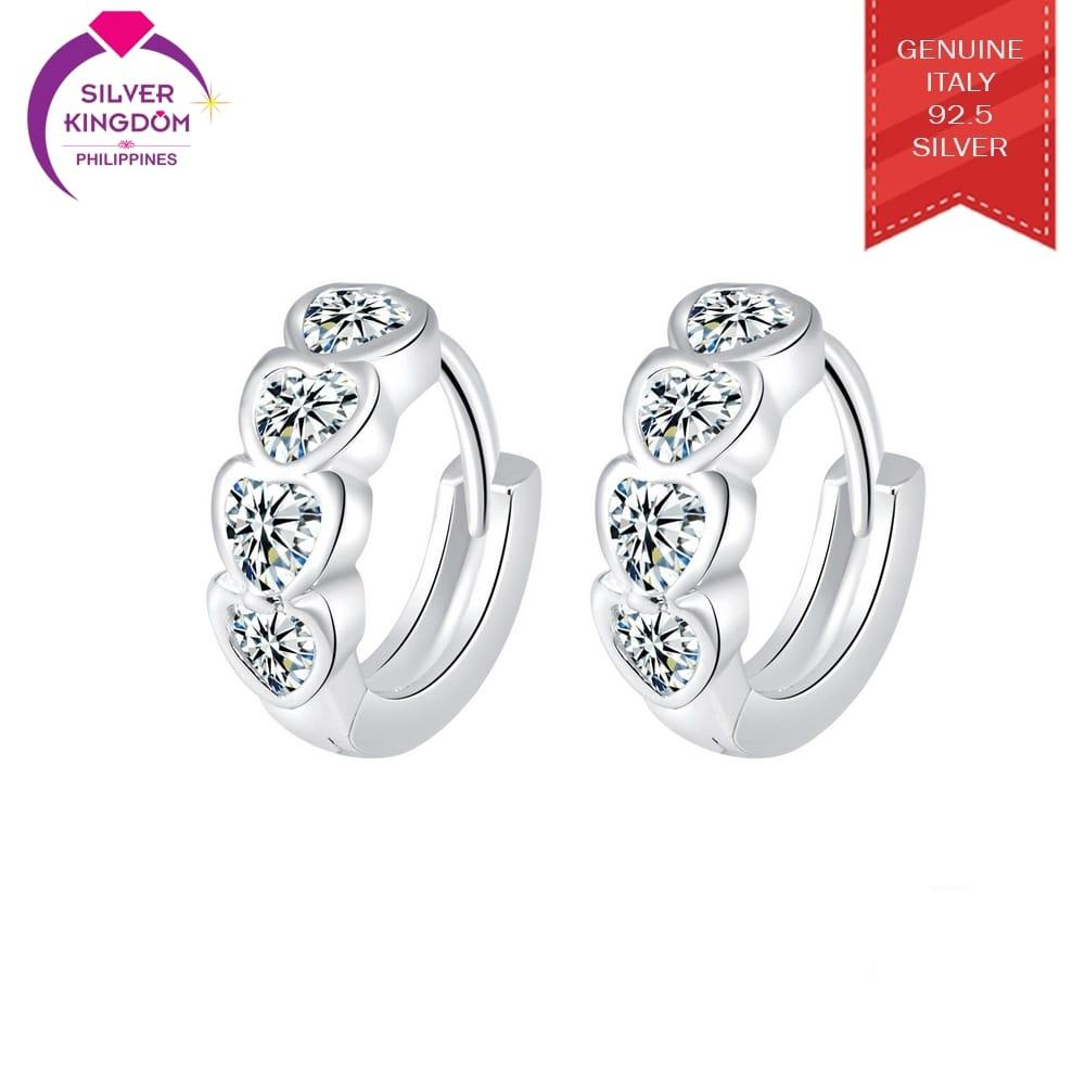 Silver Kingdom 92.5 Italy Silver CE106 Clip Earrings for Women's