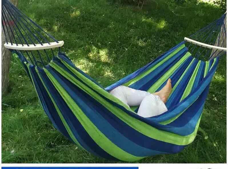 CASUAL CANVAS HAMMOCK Children Adult Outdoor Field Swing 4.7
