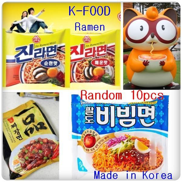 [K-FOOD Ramen/Ramyun Random 10pcs Combo/P599] Korean Popular Ramen Randomly  Package Shipping Event/ Best tasty Korean Originally Ramen, Cokd Chewy