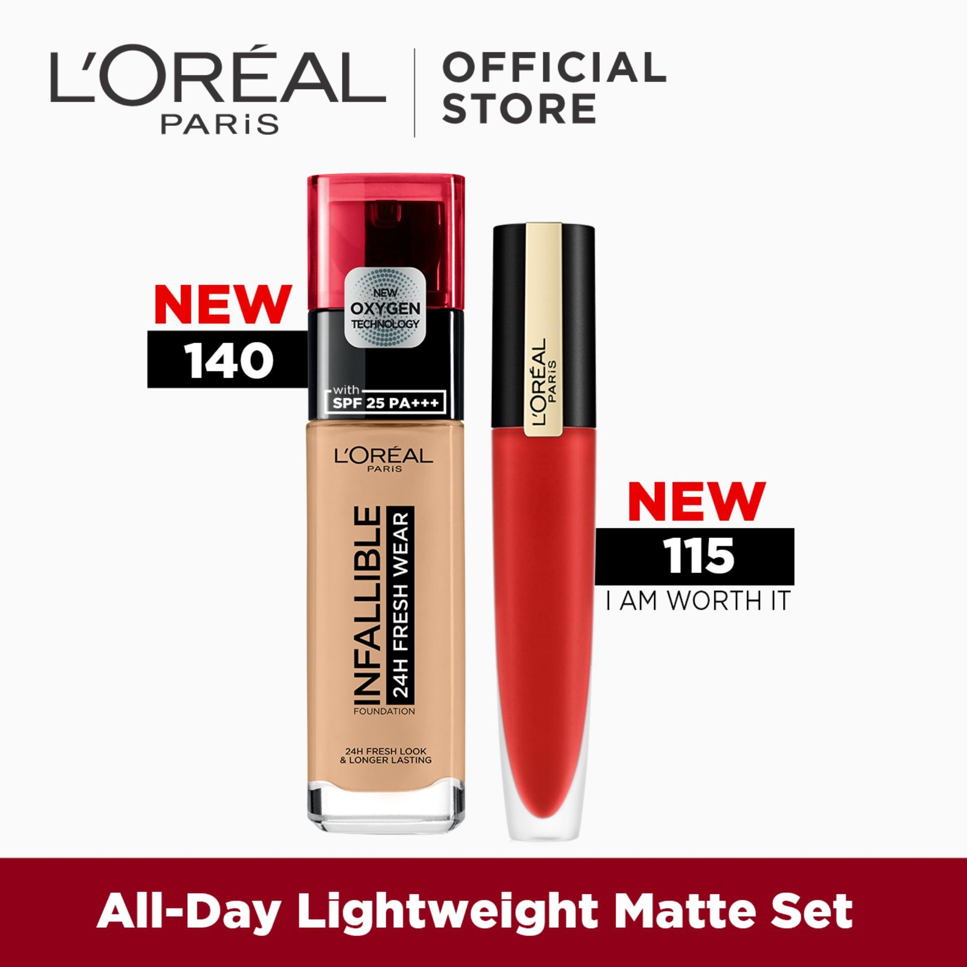 Infallible 24HR Fresh Wear Foundation + Rouge Signature I Am Worth It by LOreal Paris Philippines
