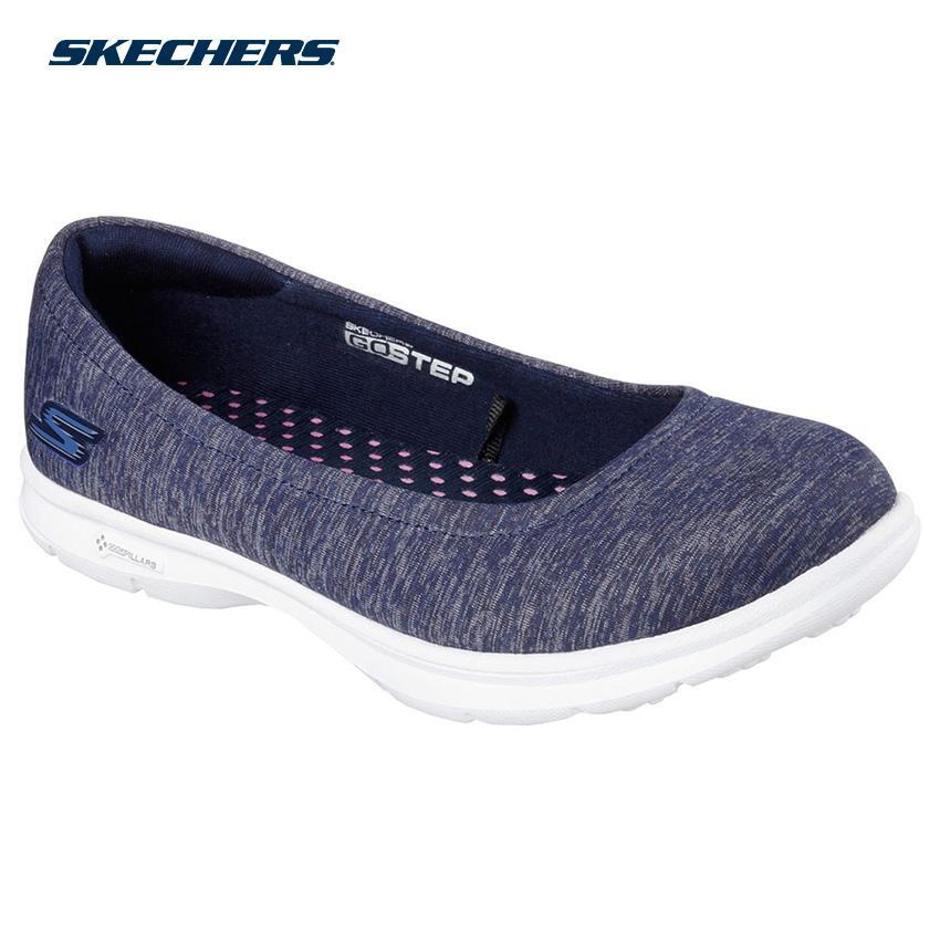 438beed0aaf09 Skechers Women Go Step - Challenge Shape-Ups Footwear 14205-NVW (Navy White