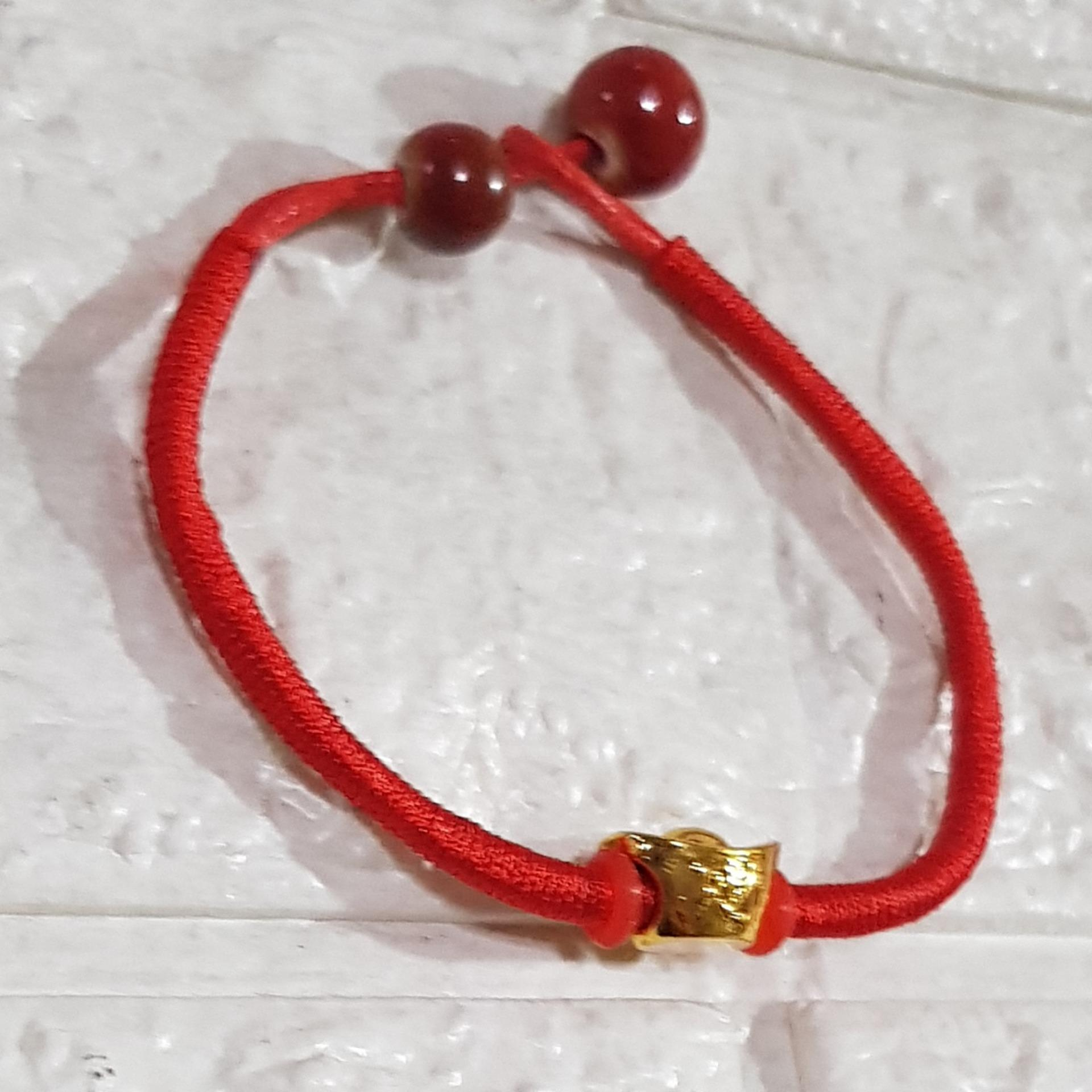 79b7eca26a54b7 Product details of 2019 Lucky Charm Red string Bracelet with money bar  Prosperity and Abundance with jewelry case