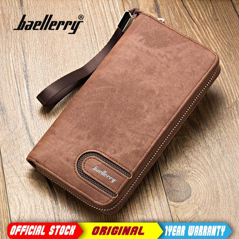 4f27cb5a0f4b Baellerry Men PU Leather Organizer Long Wallet Money Purse Coin Pocket  Pochette Male Clutch Hand Bag