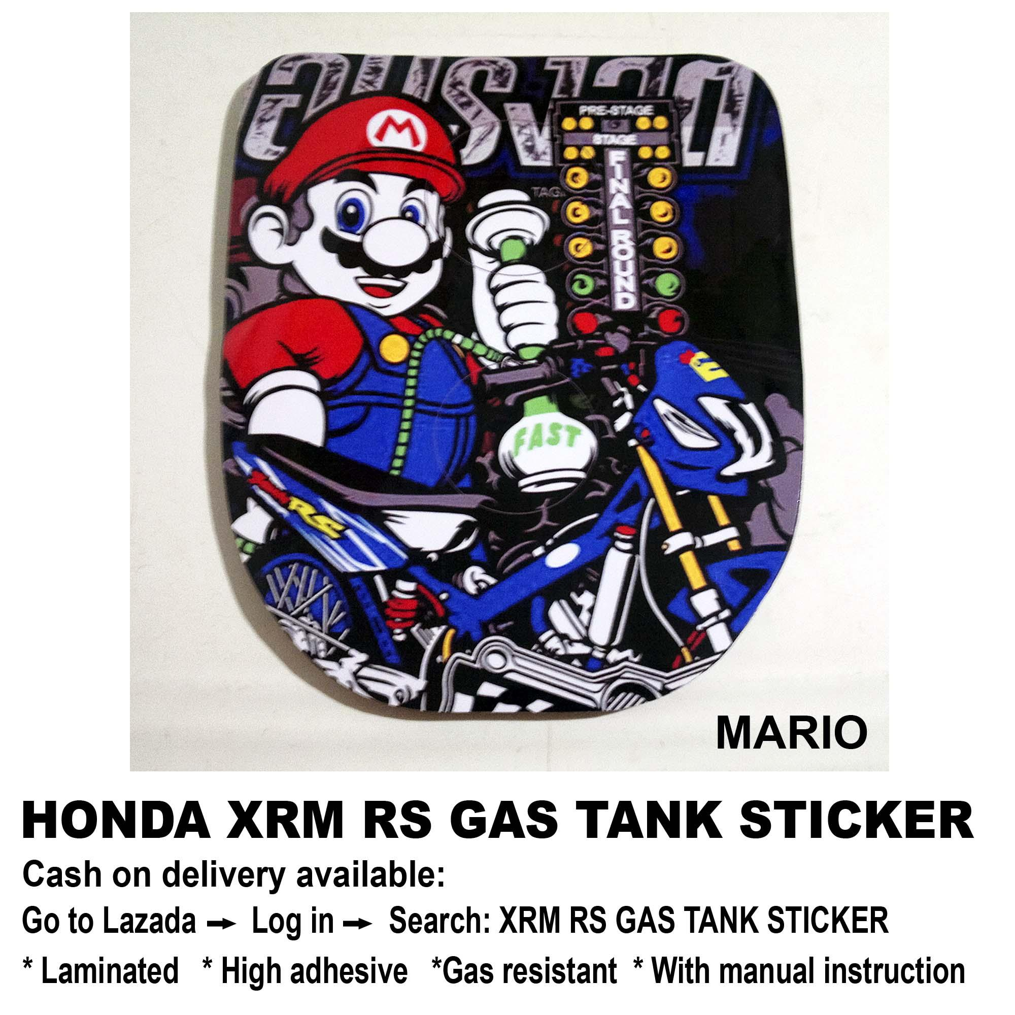 Xrm rs gas tank sticker mario