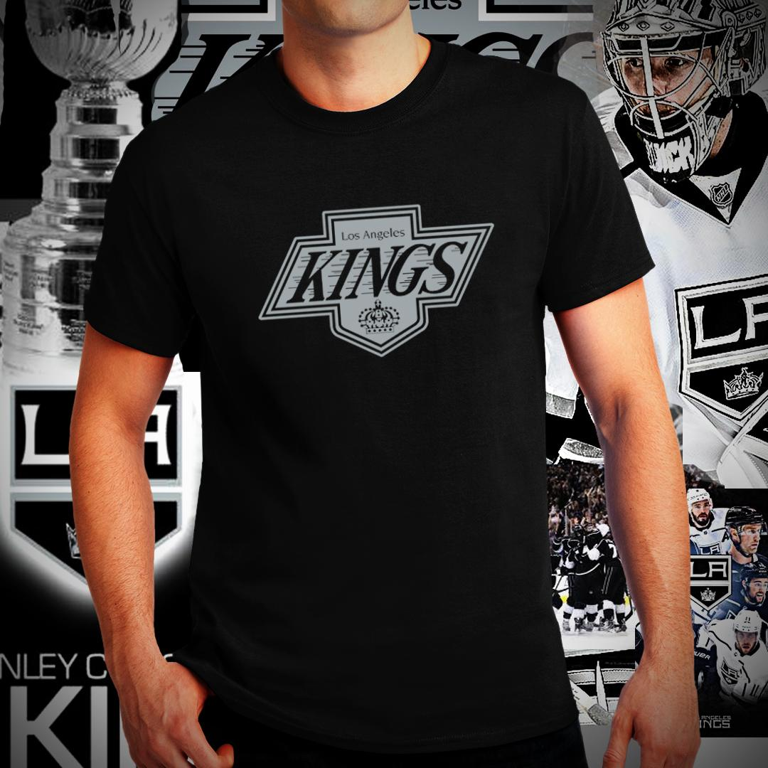 NHL Los Angeles Kings Women/'s Embroidered Tee Black T-shirt Size Medium