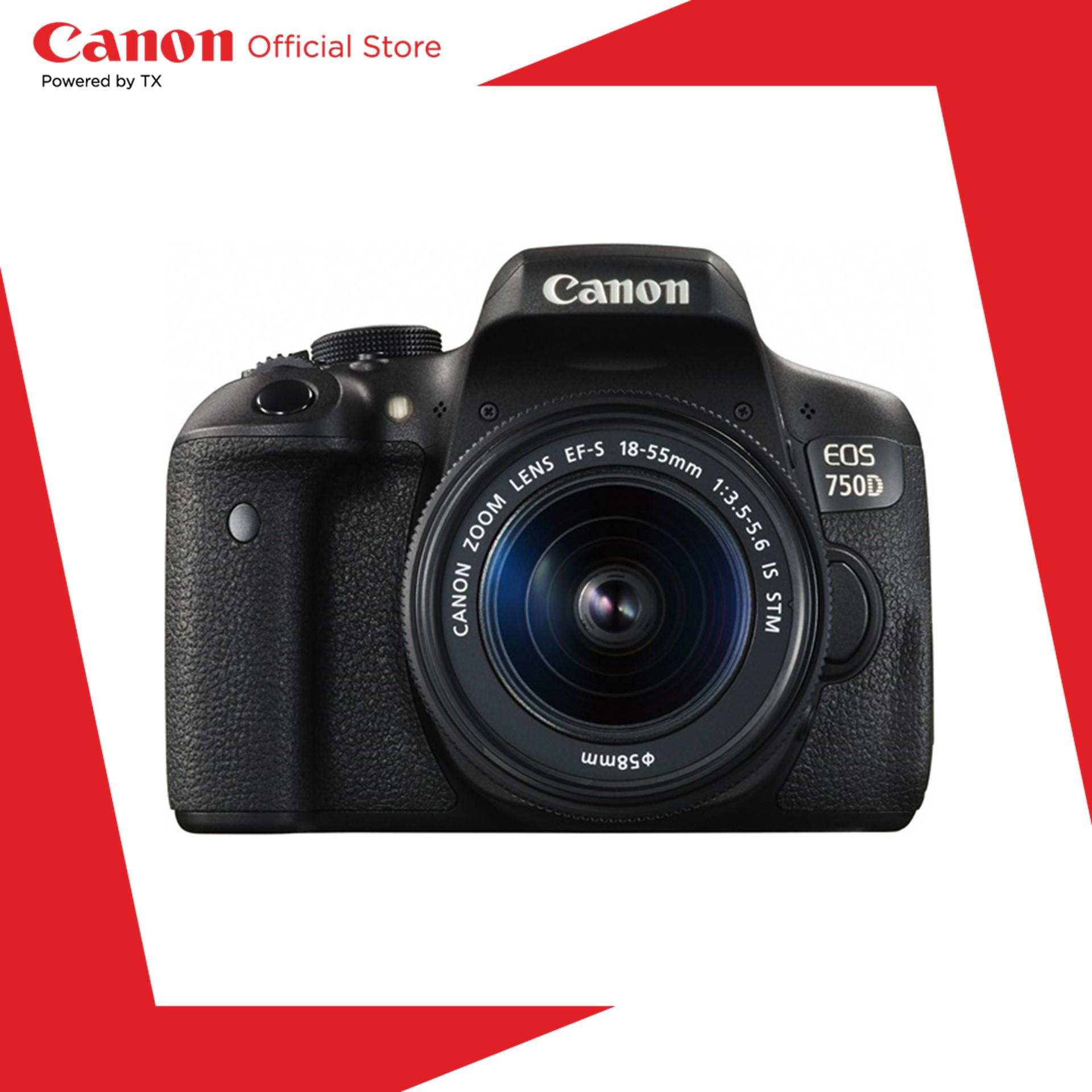 Canon Eos 750d (w) Dslr Camera With 18-55 Is Stm Lens (24.2mp, 19 Af Points, Wi-Fi) By Canon Official Store.