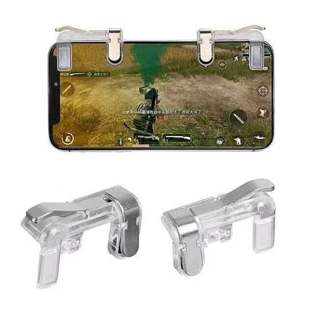 L1R1 Sharpshooter Trigger Buttons Sensitive Shoot Physical Mobile Game Controller L1R1 Shooter Controller Aim Buttons Joysticks PUBG Fortnite Rules of Survival