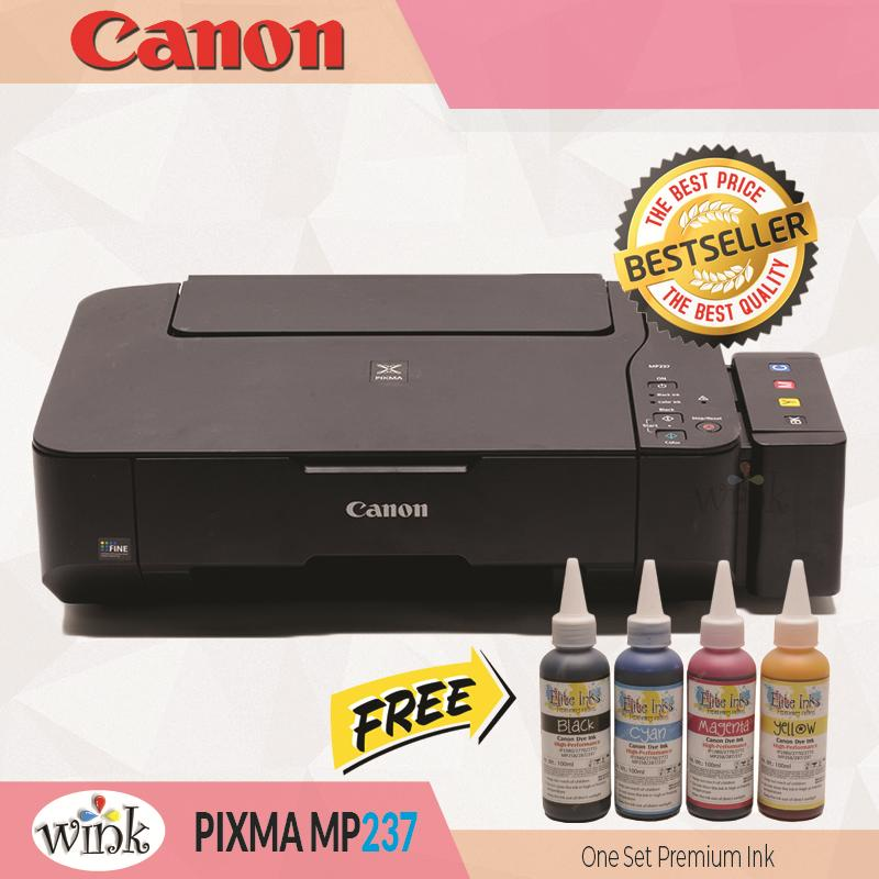 Canon Pixma MP237 Printer/Copier/Scanner with CISS and Elite Premium Inks  PLUS Additional One Set Elite Premium Inks