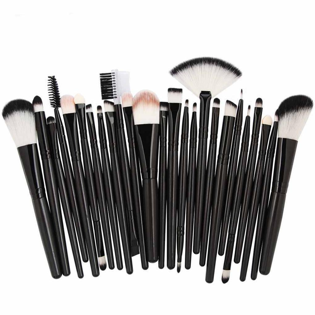 25pcs Professional Make Up Brush Set ( Black) Philippines