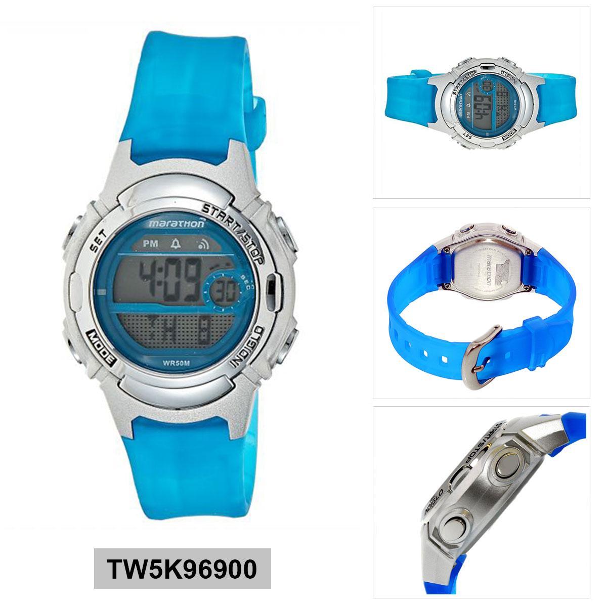 12f65b2d0 Timex Marathon Blue Resin Case Resin Strap Ladies TW5K96900